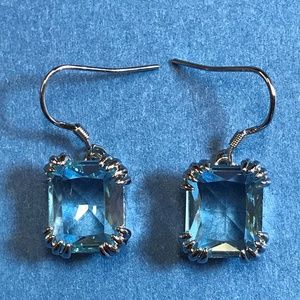 Jewelry - Sterling Silver and Sky Blue Crystal Earrings